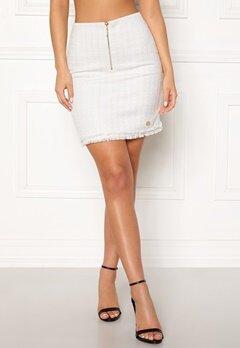 Chiara Forthi Cici bouclé skirt Winter white Bubbleroom.dk