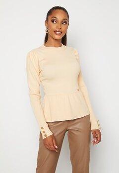 Chiara Forthi Claudina sweater Light beige bubbleroom.dk