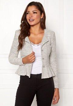 Chiara Forthi Crystalina peplum jacket Offwhite Bubbleroom.dk