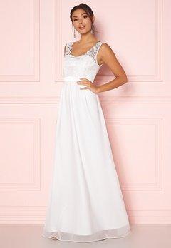 Chiara Forthi Daisy satin gown White Bubbleroom.dk