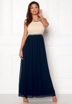 Chiara Forthi Dalilah Embellished Dress Beige / Blue Bubbleroom.dk