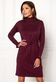 Chiara Forthi Daphne knitted dress Wine-red Bubbleroom.dk