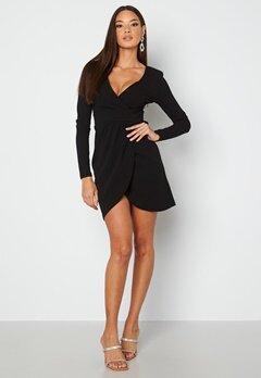 Chiara Forthi Delitia Wrap Dress  Black bubbleroom.dk