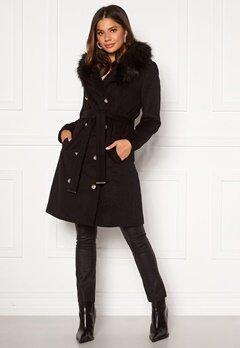 Chiara Forthi Desirée Long Coat Black Bubbleroom.dk
