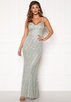 Chiara Forthi Diamond gown Silver grey Bubbleroom.dk
