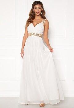 Chiara Forthi Diana Gown White / Gold Bubbleroom.dk