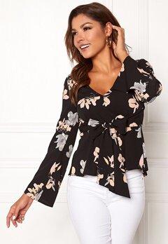 Chiara Forthi Domenica blouse Black / Floral Bubbleroom.dk