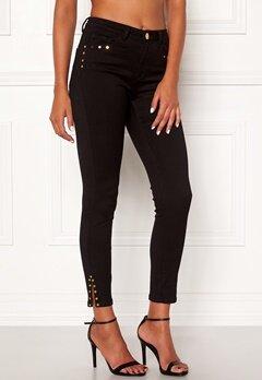 Chiara Forthi Donatella studded slit pants Black Bubbleroom.dk