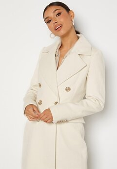 Chiara Forthi Donetta Double Breasted Coat Offwhite bubbleroom.dk