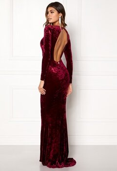 Chiara Forthi Editta Velvet Gown Dark red Bubbleroom.dk