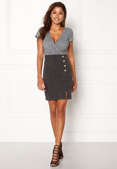 Chiara Forthi Elektra Ribbed Dress Dark grey / Grey melange Bubbleroom.dk