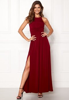Chiara Forthi Erica Maxi Dress Wine-red Bubbleroom.dk