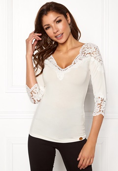 Chiara Forthi Essie Lace Top Offwhite Bubbleroom.dk