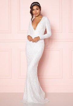 Chiara Forthi Evita embellished dress White Bubbleroom.dk