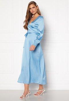 Chiara Forthi Ezra Wrap Maxi Dress Dusty blue Bubbleroom.dk