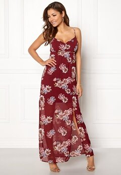 Chiara Forthi Fabienne Dress Wine-red / Floral Bubbleroom.dk