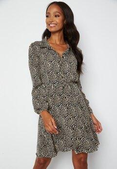 Chiara Forthi Fabiola Puff Sleeve Dress Leopard bubbleroom.dk