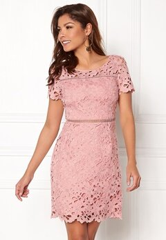 Chiara Forthi Felizia Lace Dress Light pink Bubbleroom.dk