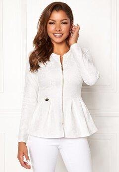 Chiara Forthi Fiona peplum jacket White Bubbleroom.dk