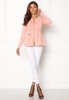 Chiara Forthi Fiorenza Peplum Jacket Light pink Bubbleroom.dk
