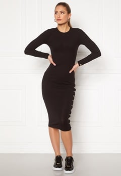 Chiara Forthi Flariana button midi dress Black Bubbleroom.dk