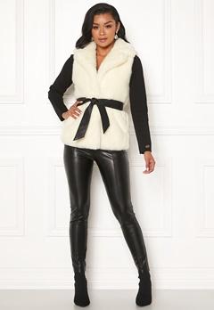 Chiara Forthi Florence Faux Fur Waistcoat Offwhite Bubbleroom.dk