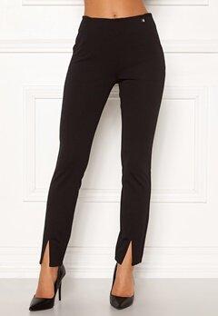 Chiara Forthi Franka jersey sleek pants Black Bubbleroom.dk