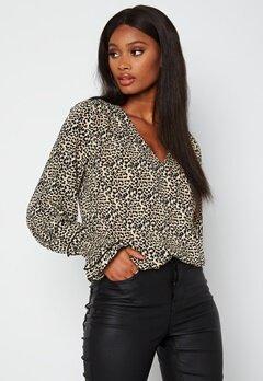 Chiara Forthi Gabbie Smock Blouse Leopard bubbleroom.dk
