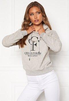 Chiara Forthi Gabriella logo hoody Grey melange Bubbleroom.dk