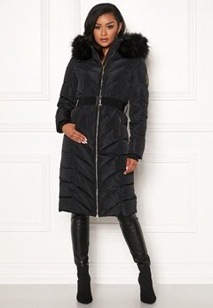 Chiara Forthi Garibaldi long down jacket Black Bubbleroom.dk