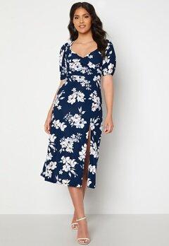 Chiara Forthi Giulia Puff Sleeve Dress Navy / Floral bubbleroom.dk