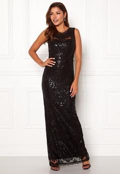 Chiara Forthi Harper gown Black Bubbleroom.dk