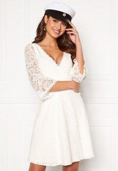Chiara Forthi Heaven wrap lace dress White Bubbleroom.dk