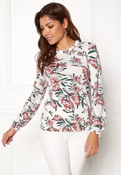 Chiara Forthi Intrend Tulip Top Winter white / Floral Bubbleroom.dk