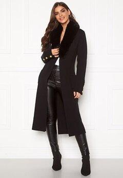 Chiara Forthi Ivy knitted Long Coat Black Bubbleroom.dk