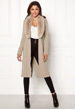 Chiara Forthi Ivy Long Coat Grey-beige Bubbleroom.dk