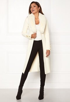 Chiara Forthi Ivy Long Coat Offwhite Bubbleroom.dk