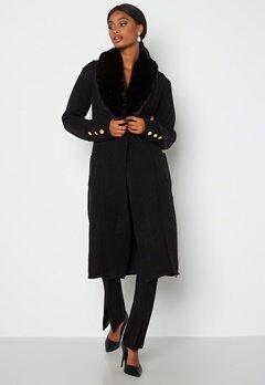 Chiara Forthi Ivy long knittted coat Black bubbleroom.dk