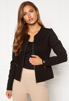 Chiara Forthi Jaquline button jacket Black Bubbleroom.dk
