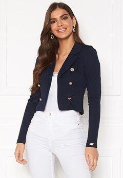 Chiara Forthi Jemma button jersey jacket Navy Bubbleroom.dk