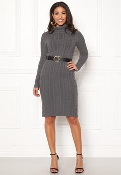 Chiara Forthi Josefina knitted dress Dark grey Bubbleroom.dk
