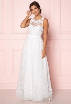 Chiara Forthi Julie flower  gown White Bubbleroom.dk