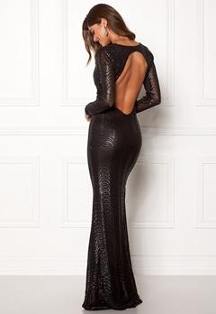 Chiara Forthi Julienne gown Black Bubbleroom.dk