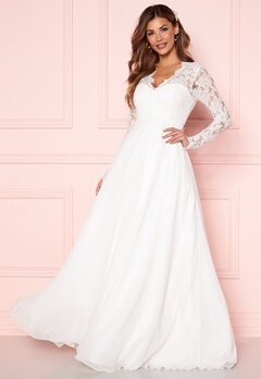 Chiara Forthi Kate lace gown White Bubbleroom.dk