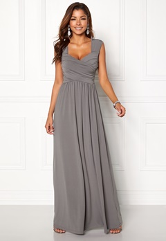 Chiara Forthi Kirily Maxi Dress Dark grey Bubbleroom.dk