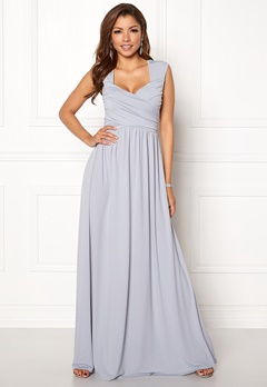 Chiara Forthi Kirily Maxi Dress Light grey Bubbleroom.dk
