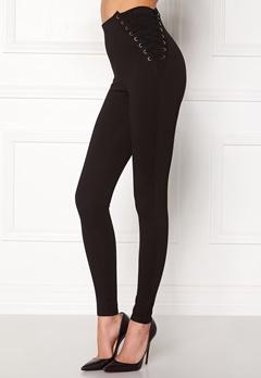 Chiara Forthi Lace-Up Pants Black Bubbleroom.dk