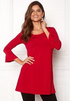 Chiara Forthi Leah tunic Red Bubbleroom.dk