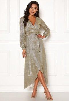 Chiara Forthi Leila sparkling dress Gold Bubbleroom.dk