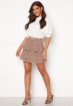 Chiara Forthi Leona flounce skirt Dusty pink / Black Bubbleroom.dk